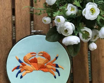 Embroidered Geometric Crab