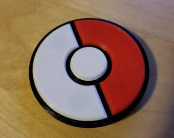 Custom Made Pokeball Fidget Spinner - Normal Pokeball