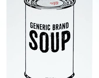Generic Brand Soup screen print
