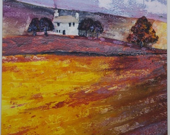 Painting Fields Original Landscape Acrylic