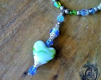 Handmade drop pendant necklace