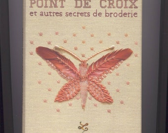 Book box cross stitch and other secrets of embroidery - school Lesage
