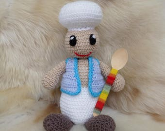 "Knitted toy ""Cook"""