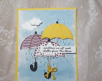 umbrella encouragement card
