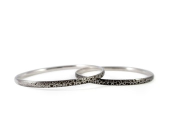 Orion Textured Sterling Silver Bangle