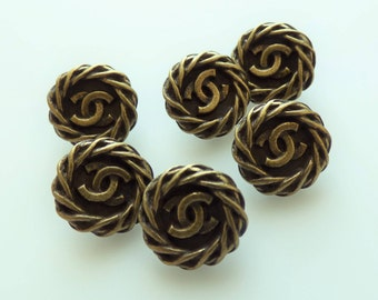 Chanel Buttons Vintage CC 14mm