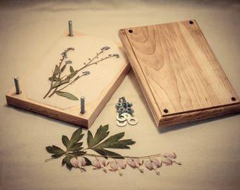 Flower Press Solid Maple Handmade
