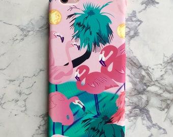 Bright Tropical Flamingo Summer Hard Matte Case iPhone 6 6S