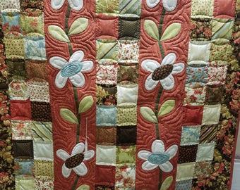 Charm School Flowers quilt