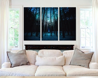 Forest & The Night Sky  - Canvas Art