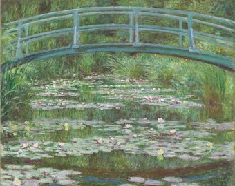 The Japanese Footbridge, by Claude Monet Canvas Art