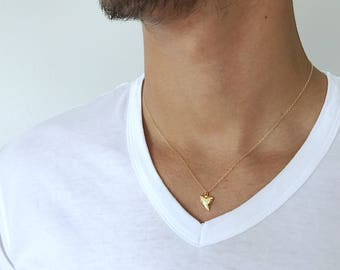 Shark tooth necklace etsy shark tooth necklace mens gold chain 14k gold filled necklace men gift shark teeth necklace gold aloadofball Gallery