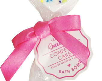 Confetti Cake Heart Bath Pop by Feeling Smitten