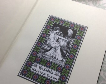 30 Personalized Custom bookplate Ex Libris Sticker Adhesive - Protect your library!