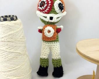 Zombie Football Player Monster Doll Plush Plushie Softie Amigurumi, Collectible