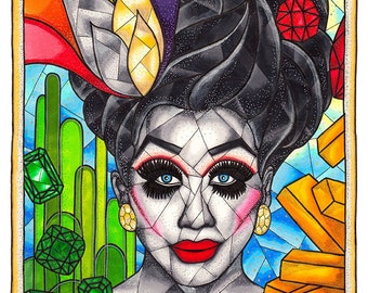 Bianca Del Rio, RuPauls Drag Race, Drag Queen Print, RPDR, Not Today Satan, Pop Art Print, 11x14 Archival Giclee Art Print