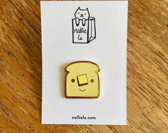 SECONDS SALE Buttered Toast Enamel Pin