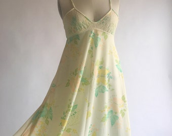 1960s Butterfly Garden Nightgown by Mr Jac Jr by Martin Marks