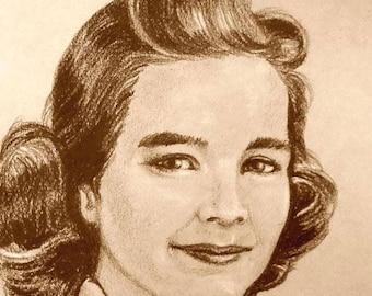 Custom Portrait Drawing by artist John Zebley, from Cherished Family Photos