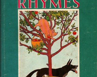 Mother Goose Nursery Rhymes - Lorna North - Christopher Sanders - 1955 - Vintage Kids Book