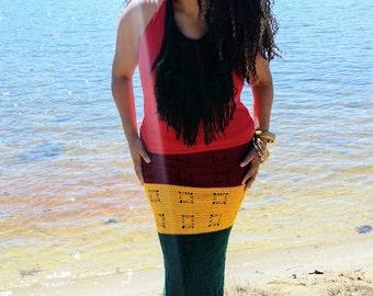 African Maxi Skirt, Guyana, Festival Clothes, Bohemian, African Clothing,  Hippie, Retro Style, Plus Size, Coachella,  Vegan, Lollapalooza