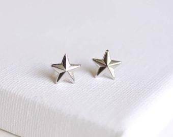 SALE . nautical star stud earrings . silver star earrings . simple star studs . star jewelry . nautical jewelry . tiny star studs // 2WISH