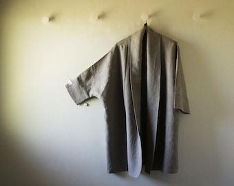LINEN CARDIGAN / natural / long linen jacket / long coat / women / autumn spring / made in australia / eco / pamelatang