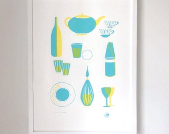 Boîte - 18 x 24 - Two Color - Archival Screen - Print