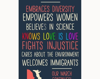 This Home Embraces Diversity (The March Continues!) Window Poster