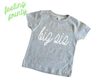 SALE big sis Shirt Big Sister Shirt Boys Shirt New Sister grey shirt