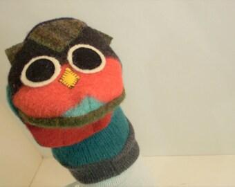 wool puppet an owl named Wyrt