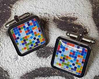 Abstract Squares Cufflinks