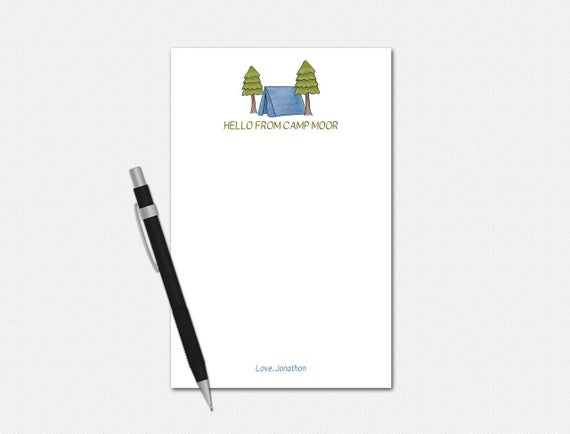 Personalized Camp Notepad for Boys