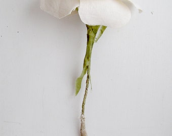 4th Wedding Anniversary Cream Linen Rose Floral Gift for Wife Everlasting Flower Check processing and delivery times