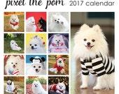 Pixel the Pom 2017 wall calendar