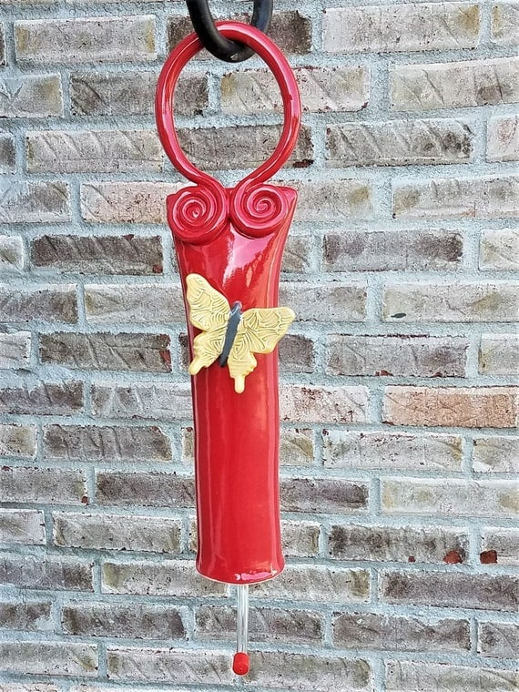 Hanging Hummingbird Feeder - Garden Decor - Bird Feeder - Outside Decor - Hummingbirds - Gift For Bird Lover - Garden Decor - Outdoor Art