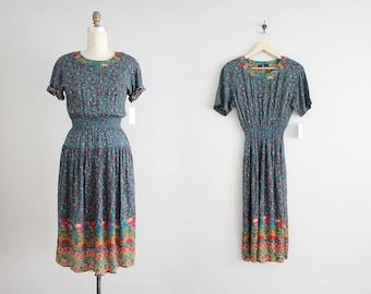 spring floral dress | gauze dress | 90s floral dress