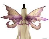 Ella No. 2 - Small Organza Fairy Wings in Lavender Glitter and Purple - Strapless Convertable