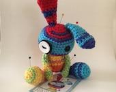BunBun the Amigurumi Rainbow Voodoo Bunny