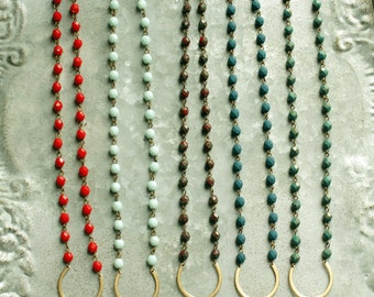 Long Tassel Necklace, Long Bead Necklaces with Tassels, Choose A Color