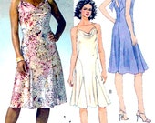 Cowl neckline dress Bias cut New Years party frock Mother of the bride bridesmaid sewing pattern McCalls 4869 size 4 to 10 or 12 to 18 Uncut