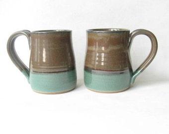 Pottery Mugs 15 oz. Set of 2
