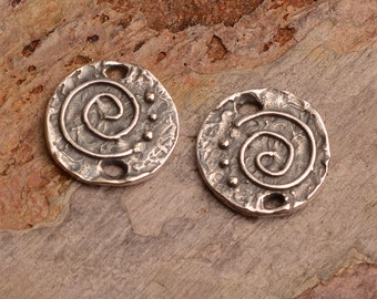 One Artisan Spiral Charm in Sterling Silver, CH-591