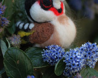 Needle Felted Goldfinch European Goldfinch British Bird