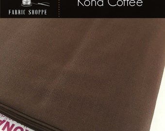 Kona cotton solid quilt fabric, Kona COFFEE 1083, Brown fabric, Solid fabric Yardage, Kaufman, Cotton fabric, Choose the cut