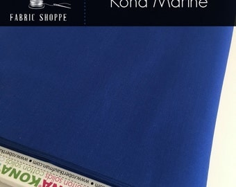 Kona cotton solid quilt fabric, Kona MARINE 1218, Kona fabric, Solid fabric Yardage, Kaufman, Blue fabric, Choose the cut