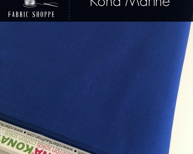 Kona cotton solid quilt fabric, Kona MARINE 1218, Kona fabric, Solid fabric Yardage, Kaufman, Blue fabric, Choose the cut