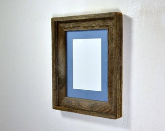 Picture frame 5 x 7 or 8 x 6 mat in 8x10 frame from rustic reclaimed wood stunning grain ready to ship free shipping