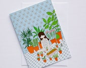 Greeting card - Les petites - Plants - cara carmina - dolls illustration - illustration - 5x7""