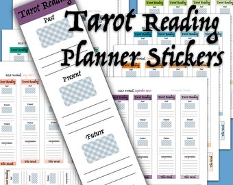 8 Pages - July - December 2017 Weekly Tarot Reading Printable Planner Stickers